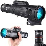 8-20x50 Telescopio Monocular para Adultos,Monocular Zoom,Starscope monocular para observación de Aves/Senderismo/Caza/Camping