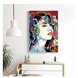 CAOHD Impresiones En Lienzo Arte De La Pared Mariah Carey Art Poster Canvas Painting Print Wall Art Decoración para El Hogar Imágenes En La Pared-50X75Cm Sin Marco