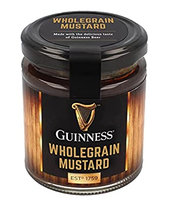 Guinness Wholegrain Mustard with the Delicious Taste of Guinness Beer, 190G