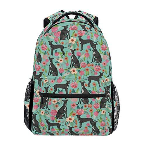 Backpack Bolso De Hombro De La Escuela con Estampado De Perro Galgo Italiano Mochila De Regalo Ligera Mochila Informal Elegante Único Durable Estudiante Viaje Universitario