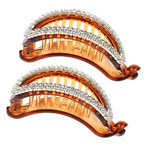Hellery 2 Stück Haarspange Weibliche Haarspangen Kunststoff Srass Schwanzklemme