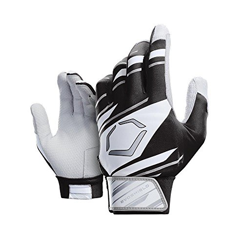 Wilson Sporting Goods Evoshield Youth Speed Stripe Batting Gloves, Black/White/Grey, Youth Large