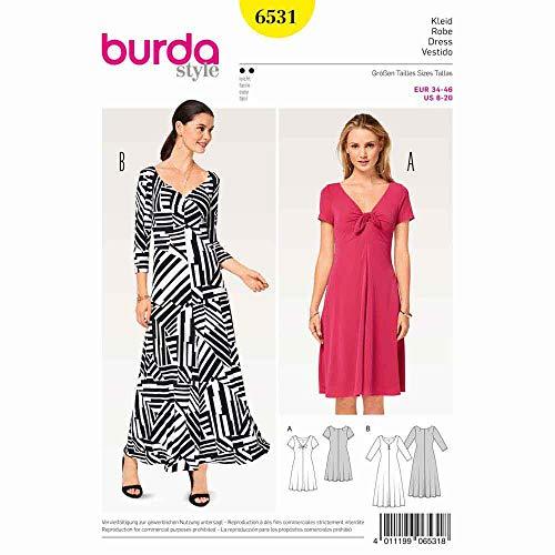 Burda 6531 Schnittmuster Shirtkleid (Damen, Gr. 34-46) Level 2 leicht