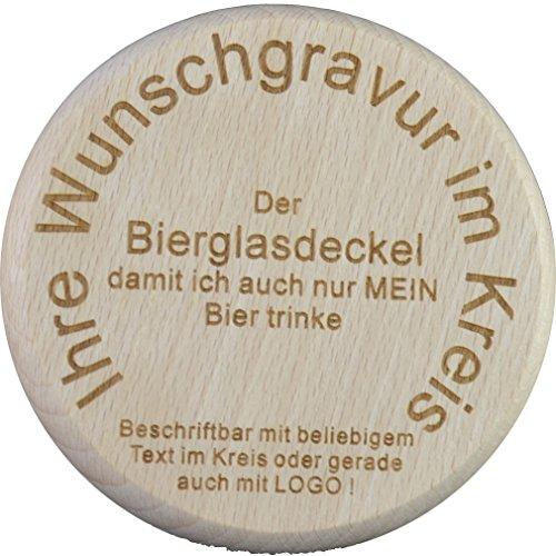 Die Stempel Gmbh Bierglasdeckel mit individueller Gravur (1 Stück)