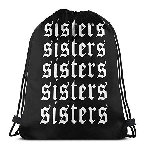Lmtt Hermanas James Charles Merch Repeat Bolsas blancas con cordón Mochilas deportivas para gimnasio Almacenamiento Goodie Cinch Bags Style1 Talla única