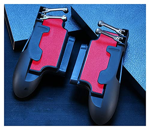 Mueve el Joystick Controlador de Seis Dedo PUBG PUBG Dibujo Movimiento Gambet GIBPAD L1R1 Fuego Objetivo botón Joystick Tablet FPS Mango de Juego Operación Flexible de Pantalla táctil (Color : Red)