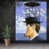 KWzEQ Surrealismo para Sala de Estar decoración del hogar Pintura al óleo Moderna Pared Arte Cartel Mural,Pintura sin Marco,70x90cm