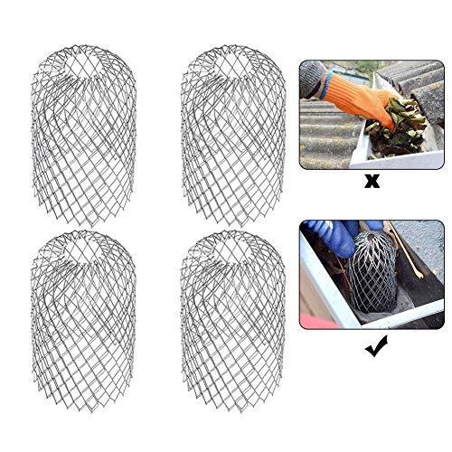 Esplic 4 Packung Dachrinnenschutz, Erweitern Sie Aluminium Fallrohr Beschützer, Gutter Guard Filtersieb Zum Stoppen Von Verstopfung Hinterlässt Schmutz