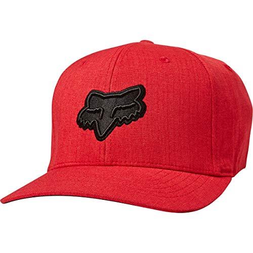 Fox - Sombrero Transposition Flexfit para hombre, pequeño mediano, rojo negro