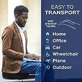 Bonmedico® Orthopädisches Sitzkissen mit innovativer Gel-Beschichtung, wirkt schmerzreduzierend, sorgt für gerade Körperhaltung und Steißbein-Entlastung, geeignet für Auto, Büro- & Rollstuhl sowie Reisen, in Schwarz oder Blau (Schwarz) - 7