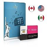 Carte SIM prépayée: 8 Go de données aux États-Unis - Free Roaming (5 Go) au Canada et au Mexique - Appels illimités et SMS
