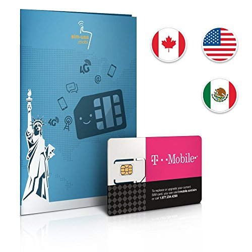 T-Mobile Prepaid-SIM-Karte für die USA mit 50 GB Daten für 30 Tage.