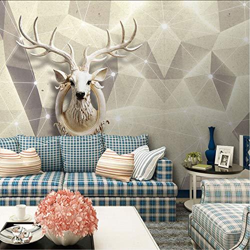 Pbbzl Europese decoratie voor thuis, voor woonkamer, slaapkamer, 3D-stickers, elk-kop, fotobehang, zijdepapier 400 x 280 cm