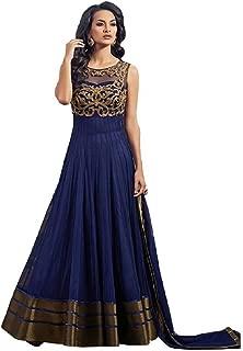 ADVOTIS Women's Net Embroidered Semi Stitched Anarkali Suit with dupatta
