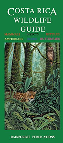 Costa Rica Wildlife Guide (Laminated Foldout Pocket Field Guide) (English and Spanish Edition)