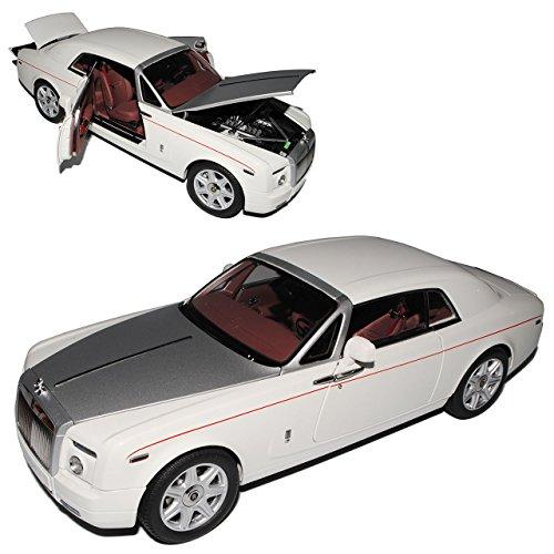 Kyosho Rolls Royce Phantom Coupe Englisch Weiss 1/18 Modell Auto mit individiuellem Wunschkennzeichen