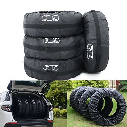 ELR Adjustable 4x4 Auto Spare Tires Tote Bags Covers Durable Car Tire Winter Summer Wheels...