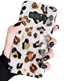 J.west Case for Galaxy Note 8 Luxury Sparkle Bling Translucent White Leopard Print Soft Silicone Phone Case Cover for Girls Women Slim Fashion Pattern Design Protective Case for Samsung Galaxy Note 8