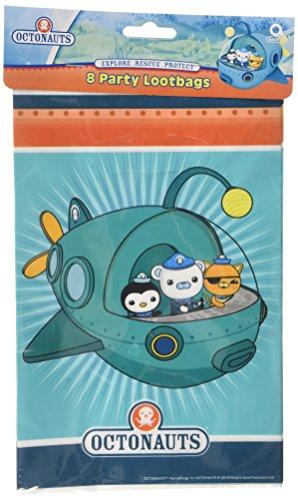 8 sacs à butin Octonauts Party Adventure plastique