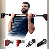 Vinsguir Pull Up Bar for Doorway Pullup bar, No Screw Installation Chin up Bar for Home Gym Exercise, 28.3-36.2 Adjustable Width - Upgraded Thickened Steel &440 LBS (180days Free Return)
