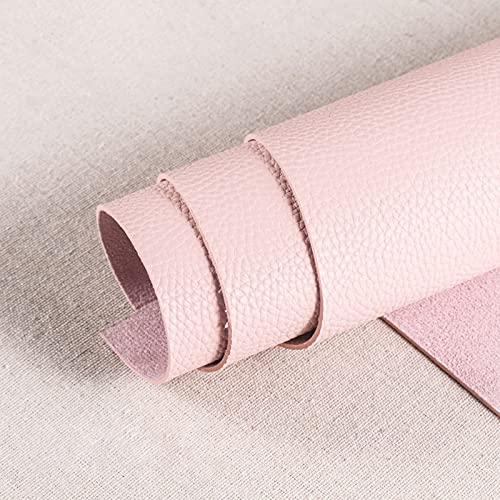 138cm Polipiel Tela De Cuero SintéTico para Tapizar Acolchado Manualidades Cojines O Forrar Objetos por Metros para La DecoracióN Interior del Asiento,Pink