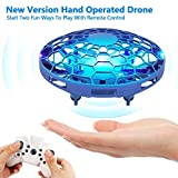 Hand Operated Drone for Kids, Mini Flying Toys Drone with Remote Control,Hands Free Drones Flying Ball Toys for Boys and Girls, Beginner UFO Hand Drone Sensor Infrared Helicopter
