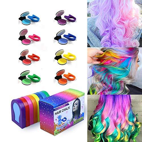 Hair Chalk Jaywayne Temporary Hair Color for Girls,Washable Temporary Hair Dye Hair Chalk for Girls...