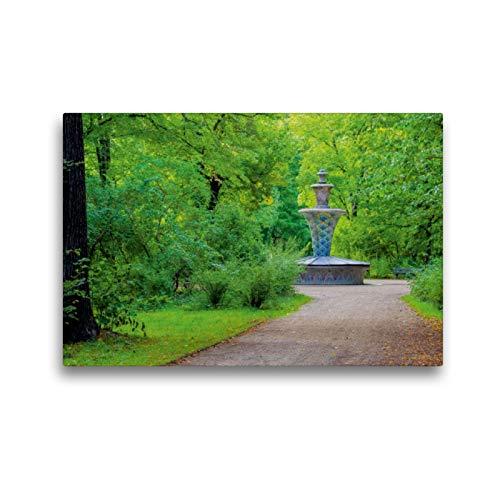 Premium Textil-Leinwand 45 x 30 cm Quer-Format Mosaikbrunnen | Wandbild, HD-Bild auf Keilrahmen, Fertigbild auf hochwertigem Vlies, Leinwanddruck von LianeM