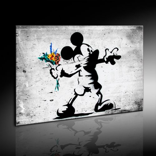 Banksy Impression sur toile Mickey monte sur chssis,...