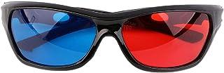 友美 ユニバーサル3Dメガネブラックフレーム赤青3D Visoinガラス用寸法アナグリフ映画ゲームDVDビデオTV