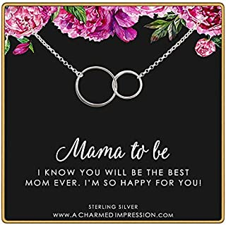 Gift for New Mom • Mama To Be • Expecting Mother Necklace • 925 Sterling Silver • Connected Infinity Circles • Mommy Jewelry • Baby Shower • Adoption Gifts • You Will be the Best Mom Ever