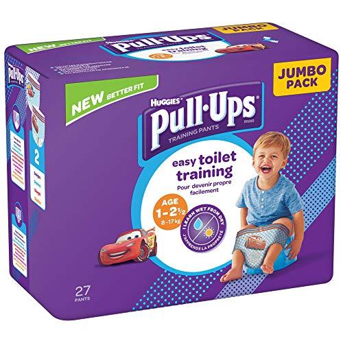 Huggies - Pull-Ups Windel für den Tag, für Kinder, 1 - 2,5 Jahre, Packung mit 4 x 27 Windeln