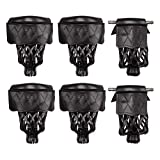 GSE Games & Sports Expert Set of 6 Heavy Duty Leather Billiard Pool Table Pockets (Several Colors & Styles Available) (Black - Diamond)
