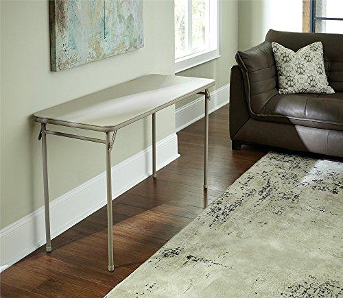 Cosco Folding Serving Table, 20 x 48, Antique Linen