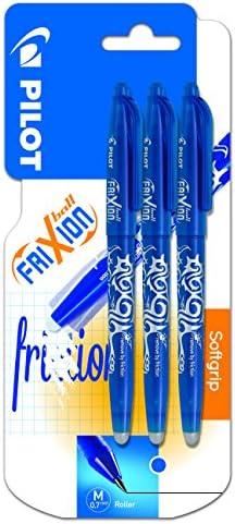 Pilot Spain Frixion Ball - Bolígrafo borrable, 3 unidades, color azul: Amazon.es: Oficina y papelería