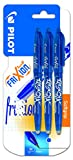 Pilot Spain Frixion Ball - Bolígrafo borrable, 3 unidades, color azul
