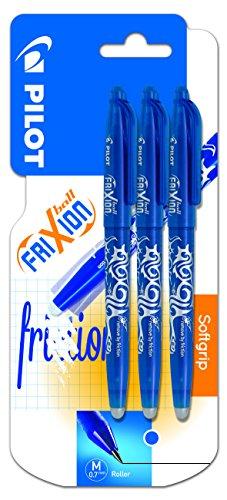 Pilot Spain Frixion Ball - Bolígrafo borrable, 3 unidades, color azul