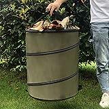 fasloyu Gartenabfalltonne Pop Up Faltbarer Gartensack mit 2 Tragegriffe 10 Gallonen Laubsack aus...