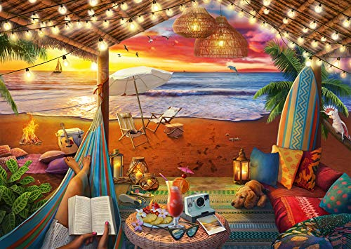 Ravensburger 16795 Cozy Cabana – 500 PC Puzzles Large Format for Adults – Every Piece is Unique, Softclick Technology…