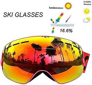 3d2e7c2554 Seagullsfly Copozz Professional Lunettes de Ski Double Couche Anti-buée  pour Adulte Homme Femme Eyewear