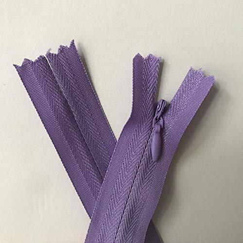 10 cremalleras invisibles, de 20 cm, 35 cm, 45 cm, 50 cm, 60 cm, 65 cm de largo, de nailon, para coser a mano, accesorios de tela