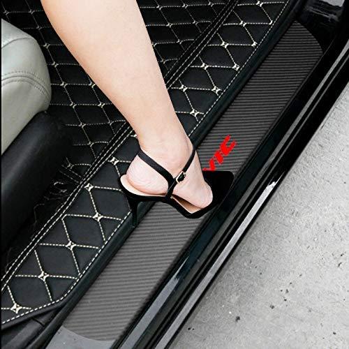 SENYAZON Pegatina de vinilo de fibra de carbono reflectante para puerta de coche, placa de desgaste para Honda Civic (negro)