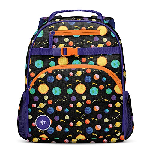 Simple Modern Kids' Fletcher Backpack for Toddler Boys Girls School, Solar System, 12 Liter