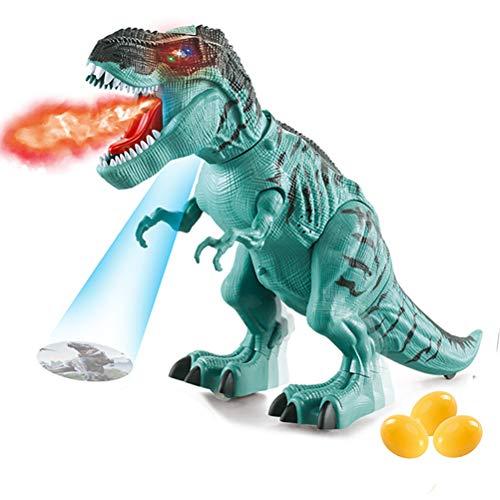 Oyria Robot de dinosaurio electrónico que camina dinosaurio de juguete poniendo huevos T-Rex Juguete de niebla rociadora robot dragón juguete mecánico caminar dinosaurio robot con huevos