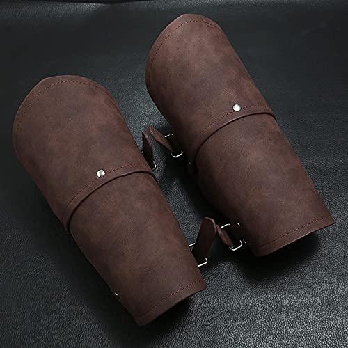 PSY Protectores de Brazo de Cuero, Pulsera de guantelete de Tiro con Arco, brazaletes de Cuero Medievales, Protector de muñeca para Cosplay Vikingo para Hombres, Mujeres y niños