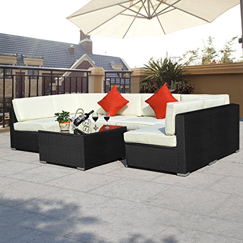 15tlg.Rattan Set Gartenmöbel Lounge Polyrattan Sitzgruppe Rattanmöbel Garnitur Garten - 3