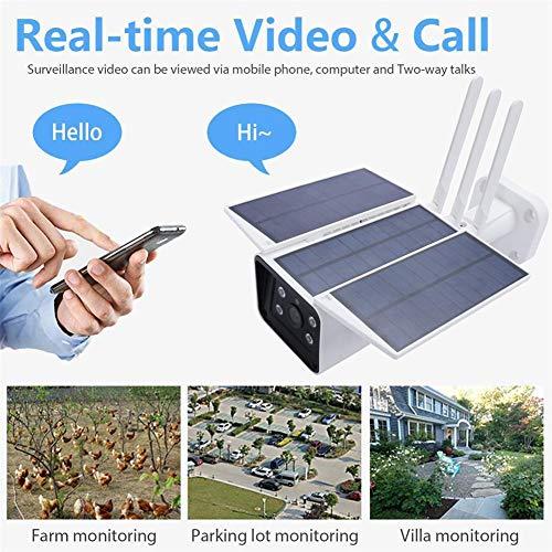 LUYISH Solar draadloze bewakingscamera, IP67 waterdicht 4G 1080P HD WiFi Outdoor Wireless Surveillance Cam, ondersteuning app afstandsbediening wegwerp