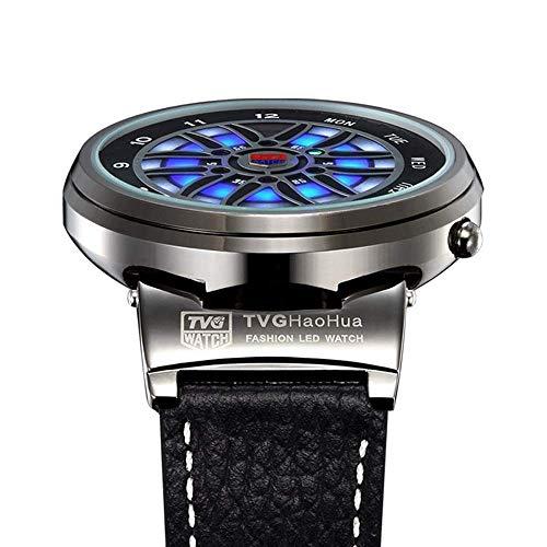 HWCOO TVG Uhr LED elektronische Uhr Herren-Uhr (Farbe : 1)