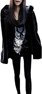 Chaqueta Largo Abrigo Parkas Outwear De Invierno De Pelo Artificial con Capucha De Manga Larga para Mujer