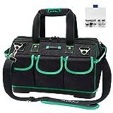 AIRAJ Wasserdichte Werkzeugtasche,47×27×31cm,Weithals Werkzeugtasche mit großer Kapazität,Multifunktions Werkzeugtasche,Professionelle Werkzeugtasche für Haushalt, Elektriker und Wartung